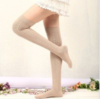 Free Shipping 2pairs Women Fashion Over The Knee Socks Thigh High Sexy Cotton Stockings Thinner drop Shipping  spring and autumn