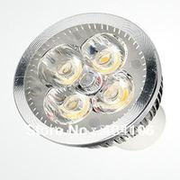 Free shipping 10x Dimmable 4x3W 12W AC110-240V&12V MR16 GU10 E27 B22 E14 GU5.3 High Power LED Light Bulb Lamp Spotlight