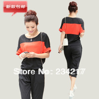 Free shipping the new leisure women suitable for fat people wear a big yards in the summer of 2013 female sport suit XL XXXL 4XL