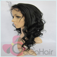 Promotion Lace Wigs Synthetic Hair Free Shipping1b Color Body Wave 10''-24'' In Stocking Lace Front Wigs