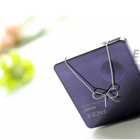 Min.order is $15 (mix order)Free Shipping New hot Japanese Series Butterfly Bow Knot Necklace, Elegant Fashion Small Fresh A549