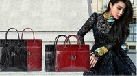 2013 Promotion Sale Women Handbag Luxury OL Lady Crocodile Pattern Hobo Tote Shoulder Bag HX-01 Fee Shipping