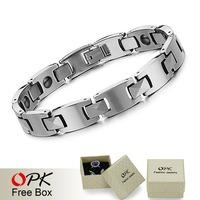 OPK JEWELRY BRAND NEW Fashion Tungsten Energy Magnetic Bracelets for man Health Balance Bracelet length 21cm 924