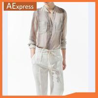 Free Shipping, 2013 New Arrival European Fashion Snake Print Blouse, Long Sleeve V-neck Women Casual Chiffon Shirt, Hot Sale 324