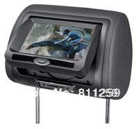 Free shipping 7'' headrest monitor DVD with FM/IR/USB/SD(MP5)/Wireless Game/zipper cover