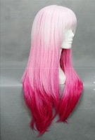 103#Free Shipping 2013  evil crown gradient  multi-pink  colors  cosplay wig   animewig Harajuku Wig