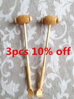 Wholesale free shipping wooden health care massage stick hammer fitness knock back hammer massage 3pcs JDAM029 dropshipping