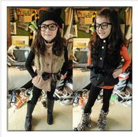 New fashion children fur vest girl winter outerwear cotton splicing autumn winter girl waistcoat kids vest fur winter coat