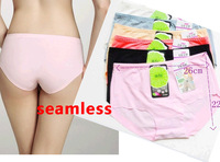 Free Shipping Hot Sale Lady Women intimates seamless Underwear Briefs Panties Soft Confortable  Wholesale  8 colors you can pick