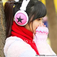 New Fashion Big Star Earphone Headphone for MP4 MP3 Mobile Phone Laptop Red White Blue Green Black