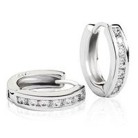 100% genuine  925 sterling silver platinum  stud earrings fine jewelry SSE042