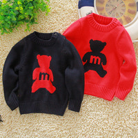Promotions! Bear Winter fashion girl thick sweater, free shipping boys sweater 2 color Sportswear