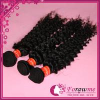 Forawme human hair weave mixed length 3 pcs lot good quality virgin curly chinese virgin hair  extension