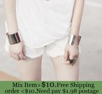 ZH0623 Titanium metal cuff bracelet silver bangles cuffs for women punk chain bracelet