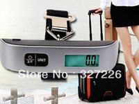 Electronic Luggage Scale Portable LCD Display Electronic Hanging Digital Luggage Weighting Scale 50kg*10g 50kg /110lb Freeship