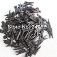 Free Shipping 500 pcs Black Color Mini Wooden Clothes Peg | Wood Clip | Tiny Colothespins Prefect Wedding Party Decoration