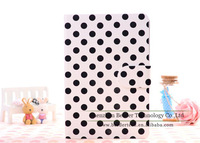Freeshipping 10pcs/lot Lovely Dot Pattern Leather Stand Case For Ipad Mini