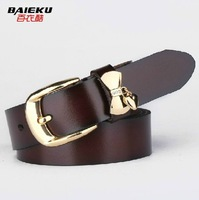 Women genuine leather all-match women's belt female cowhide fashionable casual pin buckle strap