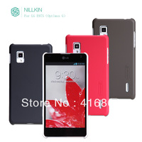 NILLKIN super frosted shield case for LG E975( Optimus G ) with screen protector + retailed package + free shipping