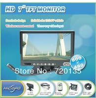 7 inch TFT HD review monitor with 2 pcs CCD camera system free shipping BY-08977M-S2