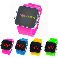 Free shipping 8 color, 2013 fashion watches, LED watches electronic watches, steel watch dial all boys and girls