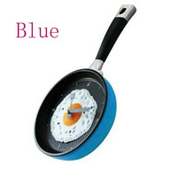 Drop shipping Fashion wall originality pan Clock with Green,blue,yellow,orange and red colors free china post