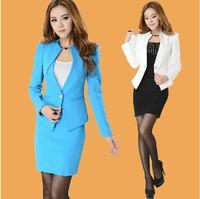 2014 professional set ol work wear women's blazer set fashion slim professional skirt suit spring and summer fashion work wear *