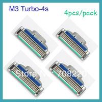 (4pcs/pack ) Original Packaging& High Quality Brand Men's Razor Blades For Shaving M3 Turbo model By Free Shipping