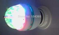 full color bar light crystal revolving wall light E27 Christmas decoration light rotating lamp