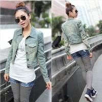 new 2014 denim jacket jeans jacket women plus size women's coats women clothing jean cardigan woman clothes casacos femininos