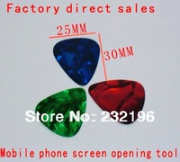 Hand tool 200pcs / a lot of red green blue triangle mobile phone screen open repair tool factory direct sale