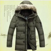 2014 autumn and winter men's outdoors down jacket, thickening  brand winter jacket,plus size military winter coat