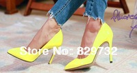 2014 new japanned leather patent leather pointed toe high-heeled shoes ol fashion work shoes women pumps high heels shoes
