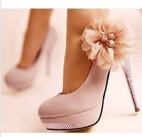 NEW Luxury Sexy Romantic Flower Women's Platform Pumps Stilettos Wedding High Heels Shoes Free Shipping 3789