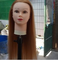 free shipping 80% real hair salon school hairdressing training PVC plastic mannequin head