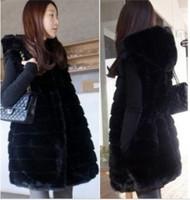 Faux fur women's overcoat medium-long vest