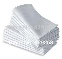100% polyester 100pcs white table napkin 48cm*48cm for free shipping