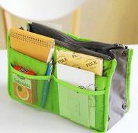 Free Shipping 2pcs/lot 2013 New Fashion Large Dual Organizer Mp3 Phone Cosmetic Book Storage Nylon Bag Handbag Purse