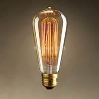 New 2014  vintage edison incandescent filament bulb light e27 110/220v ST64 indoor lighting table lamps