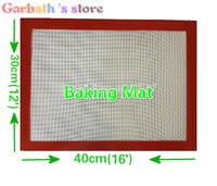 16* 12 inch(40*30 cm) Brand new Non stick Silicone Pan Silicone Professional Baking Bakeware Large Silpat Mat sugar art sheet