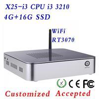 Intel core i3 3210 3.2GHz Mini ITX Computer i3 550 3.2GHz Micro PC 4GB RAM 16GB SSD HDMI 1080P