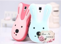 silicone rabbit case for I9500 Galaxy S4 animal back cover