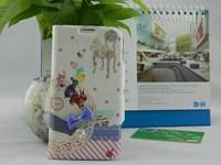 Handmade New happy animal bead cartoon flip cover case for SAMSUNG Galaxy S4 I9500 (5pcs/lot)