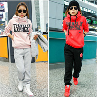 Freeshipping 2013 New Autumn, Winter clothes Fashion  Korean Women thick warm sweater casual 3pcs suit large size Women Hoodies
