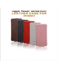 2013 In Stock Special Offer New Arrival Vogue Flower Series Leather Case For i5 Dirt-resistant