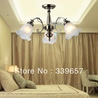 Mediterranean Chandelier Lamps for Home LED Crystal Chandelier 3pcs lampshades Offer Free LED Bulbs  Free Shipping