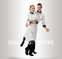 FREE SHIPPING  work jacket  hotel food service uniform cook coat chef jacket kitchen white shirt restaurant clothes