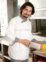 FREE SHIPPING fashion long-sleeve cook jacket chef jacket chef coat  hotel uniform restaurant coat