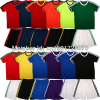 4 pcs Thail !EMS shipping! Customized soccer jersey football uniform, Brand Logo Club and patch Player name and number