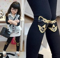 5pcs/lot 2014 Spring girls leopard pants, girls fashion cotton embroidery pants, elastic waist legging pants LG-037
